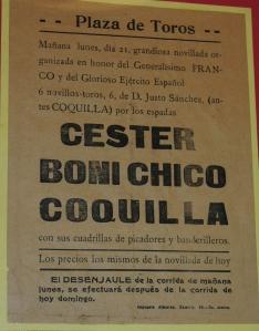 Une des premières novilladas que Justo Sanchez Arjona lidia à Madrid