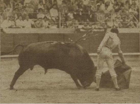 El Viti en Barcelona, el 24 de Junio de 1961. Fotografia El Ruedo