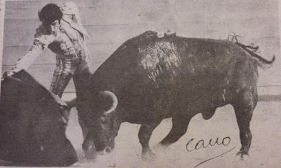 Damaso Gonzalez en Valencia, el 24 de julio de 1979, ante un buen Sepulveda. Fotografia Cano.