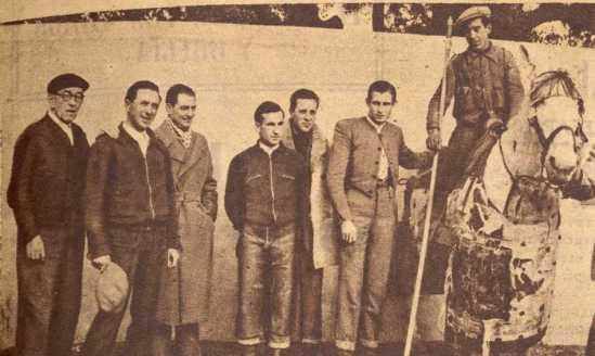 Tienta organizada en los inicios de la trayectoria de Sepulveda, en 1953. Fotografia El Ruedo